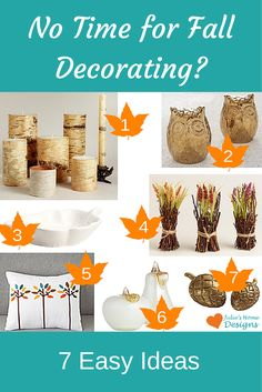 Easy Fall Decorating Ideas.  Click here for the store links: http://www.redoyourroomonline.com/easy-fall-decorating-ideas/ #falldecorating #fall #homedecor #pumpkin       #decorating #interiordecorating