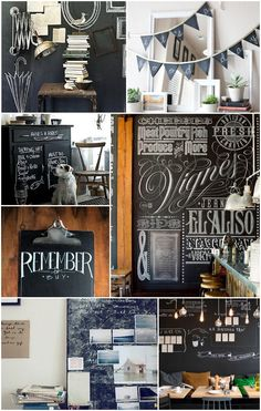Chalkboards have become a signature way for us to convey information to our guests every morning like menus, forecasts and recommended activities, I love all the unique ideas for chalkboard paint in this post...
