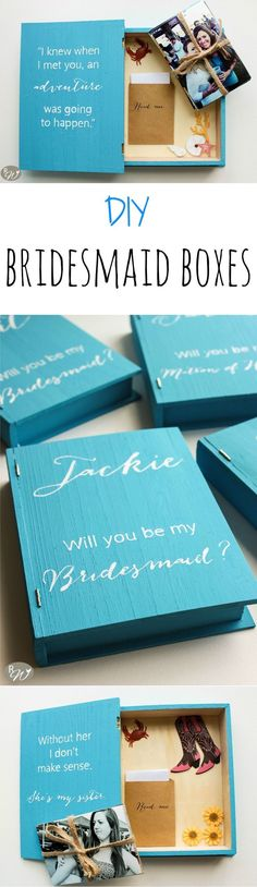Propose to your bridesmaids with these DIY bridesmaid boxes that are sure to be keepsakes forever   therusticwillow.com