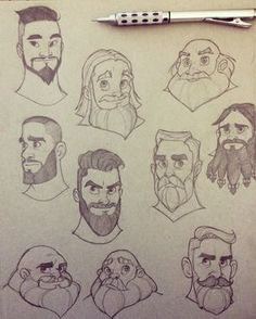 Beard Sketches by chrissie-zullo on DeviantArt