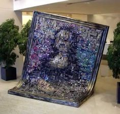 This Mona Lisa was made of computer chips (ASUS headquarters)