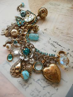 Aqua rhinestone bracelet