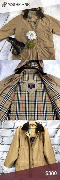 "💕SALE💕 Burberry Camel Hooded Jacket Fabulous  Burberry Camel Hooded Jacket 32"" from the top of the shoulder to the bottom 23"" from armpit to armpit 26"" Sleeve Length 50% Polyester 50% Nylon Great Condition Burberry Jackets & Coats"
