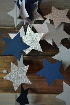 Dallas Cowboys Glittery Star Football Navy by PartyMadePretty