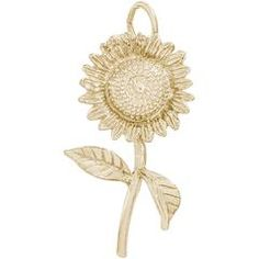 Rembrandt Charms - The Sunflower Charm is always in bloom. Symbolizing adoration, loyalty and longevity, this cheerful garden flower is available in silver and gold.