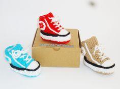 Baby Converse, Crochet Converse Shoes, Crochet All Star , Baby Converse Sale, Converse, Toddler Shoes, Toddler Converse, Baby Gift Shoes by BABYCROCHETfashion on Etsy
