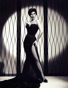 Ava Gardner.  Beautiful figure plus classy style.