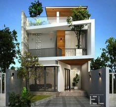 Small house design, modern house design, box house design, fasade h Architecture Design, Facade Design, Exterior Design, Minimalist House Design, Modern House Design, Modern Contemporary House, Small Home Design, Box House Design, 3 Storey House Design