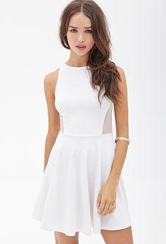 Scuba Knit Skater Dress - Dresses - 2055879175 - Forever 21 EU