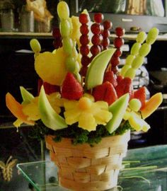 fruit baskets project from edible crafts online  can't wait to try this for a party!