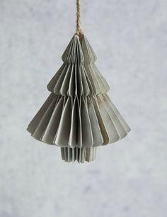 Paper Christmas Tree Hanging Decoration at Rose & Grey