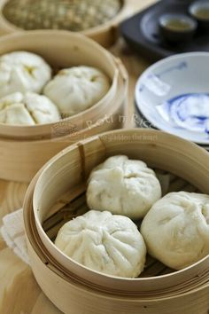 Make your own soft, white, and fine textured steamed Char Siew Bao (Steamed Barbecued Pork Buns) filled with sweet barbecued pork filling. Step-by-step instructions included.| Food to gladden the heart at RotiNRice.com