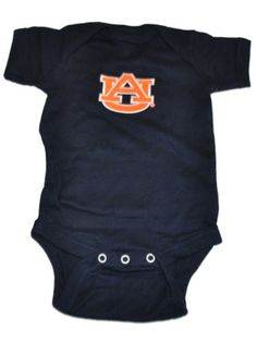7e2023e19 Auburn Tigers Two Feet Ahead Infant Baby Lap Shoulder Navy One Piece Outfit