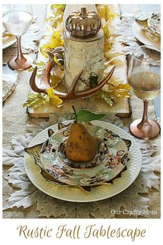 Create A Neutral Rustic Fall Tablescape & Blog Hop Our Crafty Mom