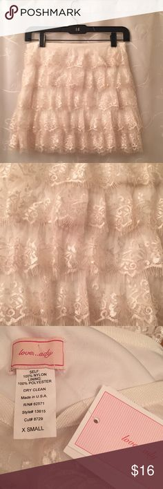 Lace skirt Brand new with tags on!  Originally from Lord & Taylor.  Lace skirt - lined. love ady Skirts Mini