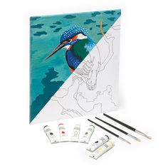 Paint your own canvas, kingfisher