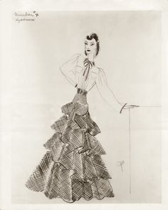The Philadelphia Story  Costume for 'Tracy Lord' by Adrian.