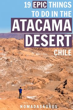 You do not want to miss these 19 epic things to do in the Atacama Desert (or Desierto de Atacama) in Chile! From astronomy tours to wandering around San Pedro de Atacama and more! South America Destinations, South America Travel, Travel Destinations, Holiday Destinations, Backpacking South America, Machu Picchu, Travel Advice, Travel Guides, Travel Tips