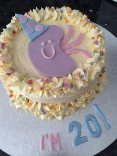 Kidney transplant anniversary cake. Butter cream, fondant