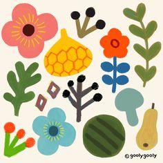 63 ideas for flowers spring illustration colour Gravure Illustration, Illustration Blume, Pattern Illustration, Simple Flowers, Colorful Flowers, Textiles, Motif Floral, Floral Illustrations, Surface Pattern Design