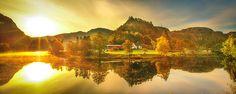 Brilliant landscape at this lake with spectacular light & reflection