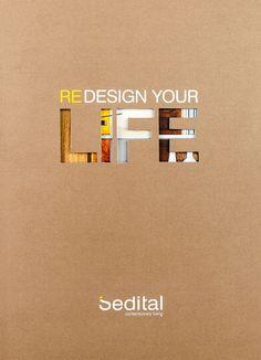 Realizzazione grafica del catalogo per Sedital. Forma squadrata, linguaggio essenziale e shooting fotografico raccontano in modo nuovo il prodotto.