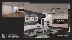"""Check out my #interiordesign """"Monochrome Kitchen"""" from #Homestyler http://autode.sk/1g4PrRQ"""