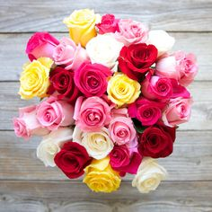 Mother's Day Pre Order: The Bouqs Co. 'Just Make It Awesome' Deluxe Multi Color Roses Bouquet