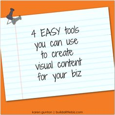 4 EASY tools to create visual content for your biz