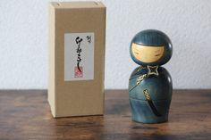 Usaburo made Sosaku Kokeshi blue Ninja Kokeshi Doll Japanese creative Kokeshi doll / inches Vintage Candles, Vintage Tins, Vintage Dishes, Etsy Vintage, Vintage Shops, Vintage Accessories, Bridal Accessories, Kokeshi Dolls, Matryoshka Doll