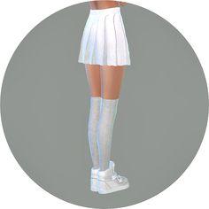 real pleats mini skirt V1_single color_리얼 플리츠 미니 스커트 단색 버전_여자 의상 - SIMS4 marigold