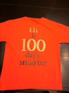 100th day of school t-shirt using Cricut iron on vinyl