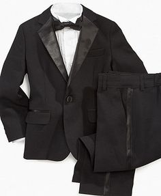 Cooper would kill this...Nautica Kids Dresswear Set, Little Boys Tuxedo Set