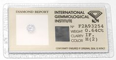 IGI, Diamant 0,64ct Brillant Lupenrein Wesselton Juwel! - Diamanten unter Grosshandelspreis mit IGI HRD DPL GIA Zertifikat, D5776