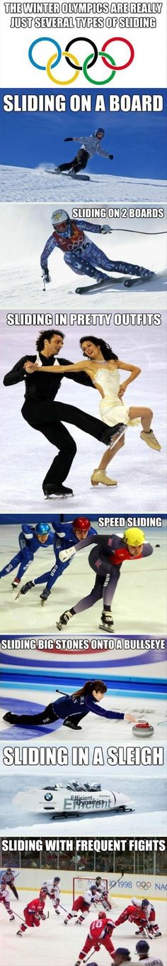 Too bad they don't have sliding on tubes in the Olympics! I could so do that one