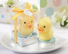 Rubber Ducky Baby Shower Ideas | Rubber Ducky Candle"