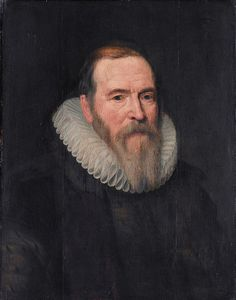 с.1616.Johan van Oldenbarnevelt (1547-1619), by workshop of Michiel Jansz van Mierevelt.Rijksmuseum.