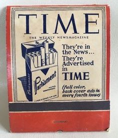FEATURE Matchbook- Parliament TIME Oversized RARE Display Cigarettes