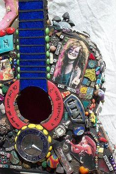 Janis Joplin art guitar