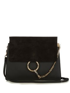 Chloé Faye suede and leather shoulder bag