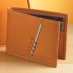 Rawlings Glove-Leather Wallet Minimalist Leather Wallet, Slim Leather Wallet, Handmade Leather Wallet, Leather Gifts, Leather Art, Leather Gloves, Leather Wallet Pattern, Handmade Wallets, Wallets For Women Leather
