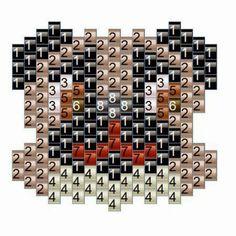 Handmade Cuties: Pattern Seed Bead Pug - Bead Graph and Thread Path