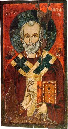 St Nicholas. Late 14th c. Icon gallery, Ohrid, FYRoM.