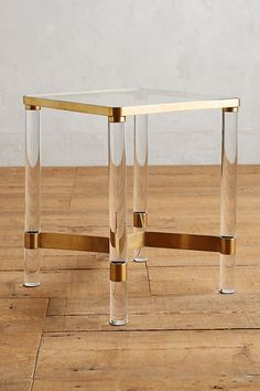 Anthropologie Oscarine Lucite End Table, Home Accessories, Anthropologie Oscarine Lucite End Table. Lucite Furniture, Acrylic Furniture, Deck Furniture, Find Furniture, Unique Furniture, Furniture Design, Furniture Stores, Furniture Ideas, Furniture Outlet