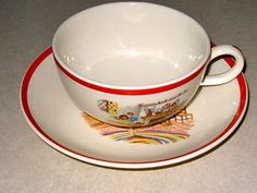 Homer Laughlin colonial cup saucer  free ship $14.95