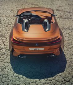 While it's all conjecture at this point in time, this BMW Concept is amazing. Does it look like a Jaguar F-Type SVR without a roof and a BMW grill? Bmw Concept, Dodge Viper, New Toyota Supra, Bmw Z4 Roadster, 2017 Bmw, Jaguar F Type, New Bmw, Transportation Design, Car Lights