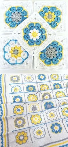 Lovely African Flowers Crochet Pattern Ideas. African flower patterns are so cheerful and exotic looking! The flower in the center is the heart of this pattern. These beautiful squares can be a base for many other different projects, like blankets, pillow cases, wraps, shawls, bed spreads and many more. #freecrochetpattern #flower #stitch