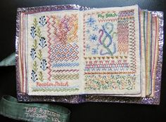 On this blog, Million Little Stitches, edited by Maya Matthew, I found these beautiful images of fully embroidered cloth books, made by M...