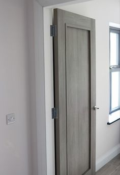 Grey doors are making such an impact on the 2020 home scene. Modern design with a square section around the centre panel. Makes this door stand out from the rest. Available from our showrooms and online.