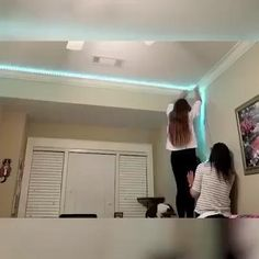 Rgb Led Strip Lights, Strip Lighting, Room Ideas Bedroom, Girls Bedroom, Boys Bedroom Decor, Bedrooms, Dream Rooms, New Room, Cheap Home Decor